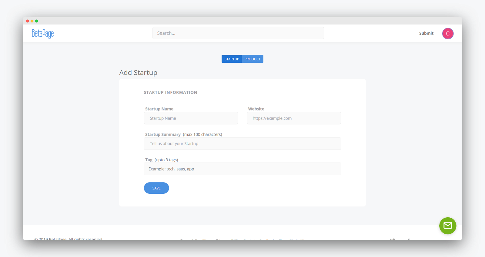 Betapage Screenshot 2