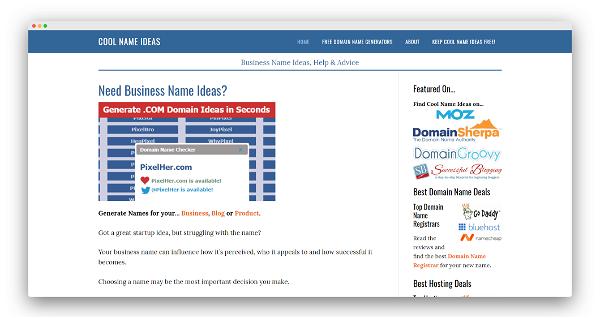 Cool Name Ideas Screenshot