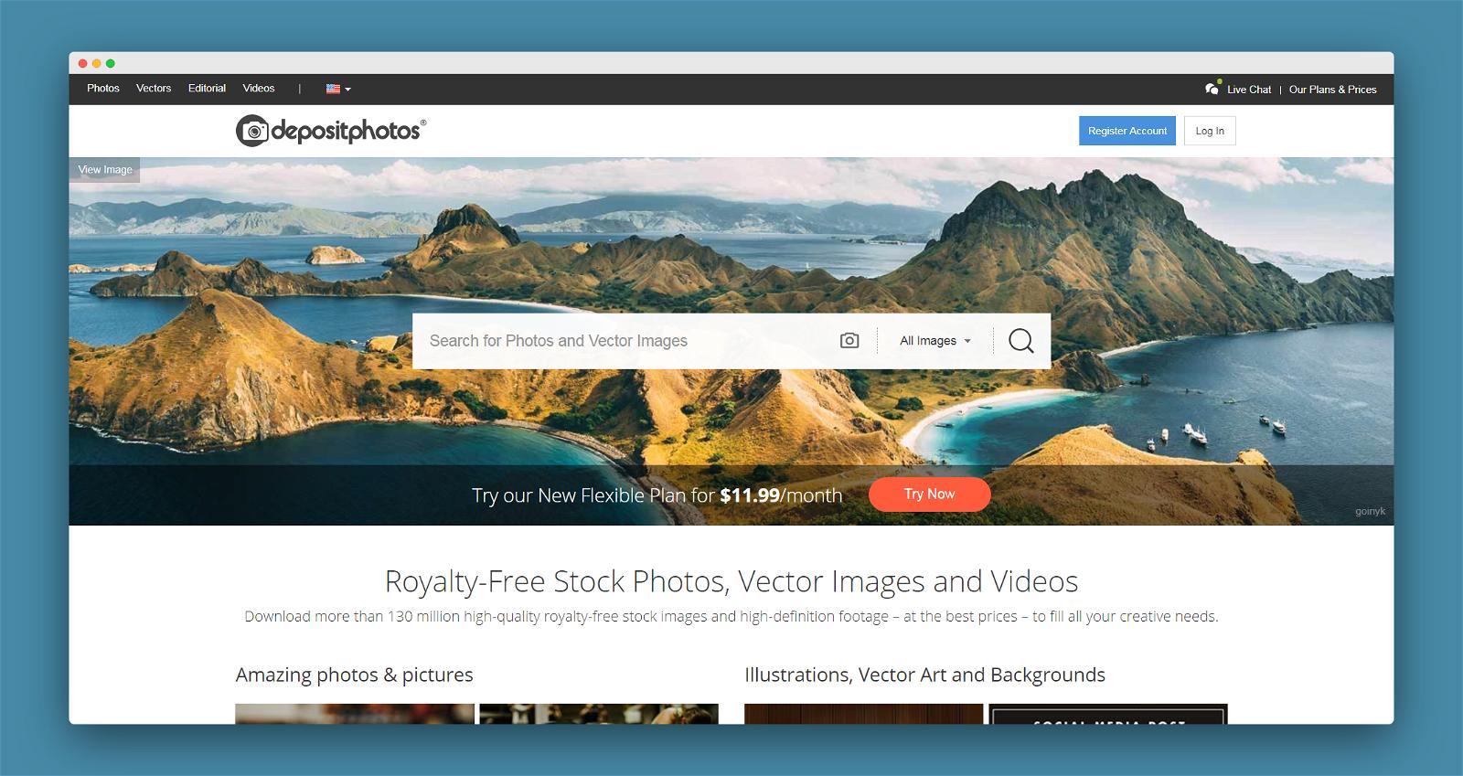 Deposit Photos Screenshot 1