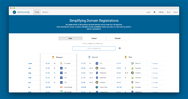 Domain And Compare Screenshot