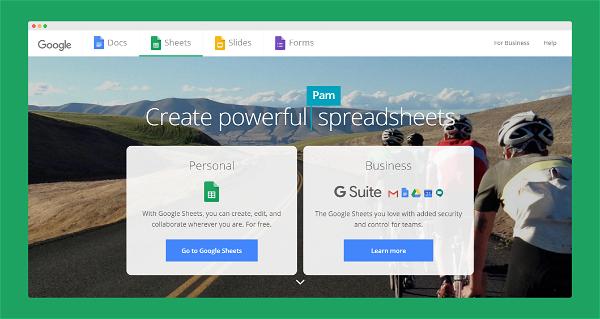 Google Sheets Screenshot