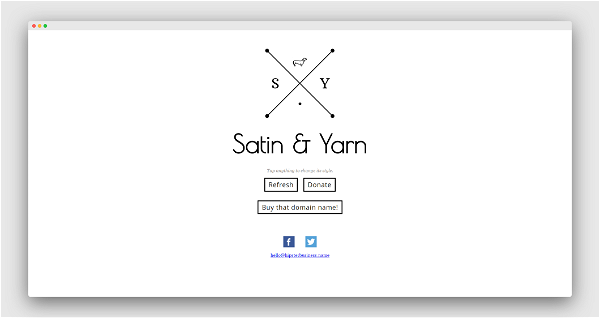 Hipster Business Name Generator Screenshot