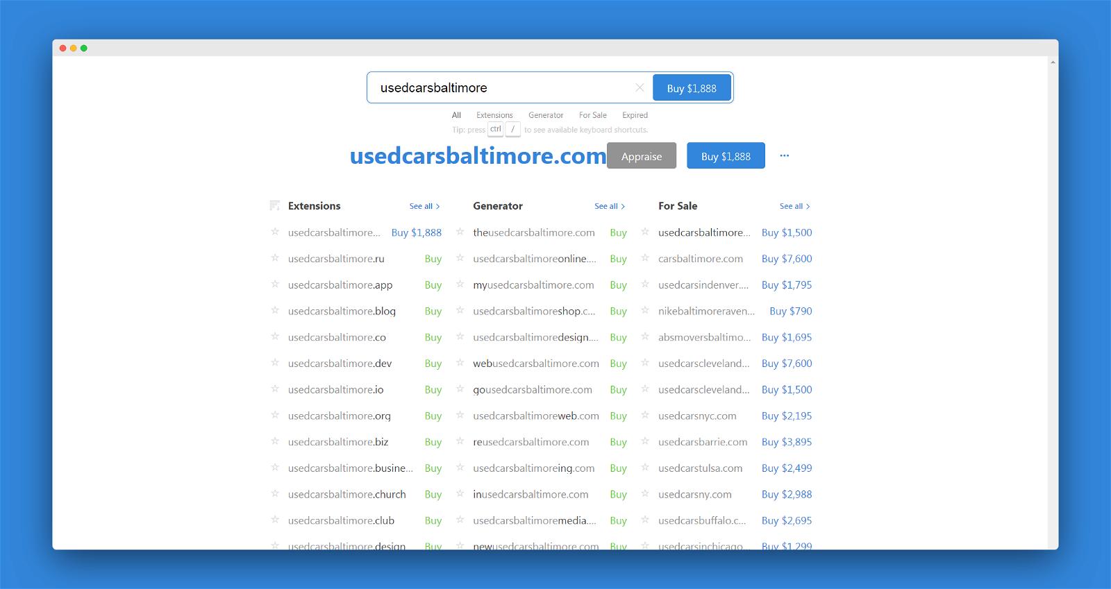 Instant Domain Screenshot 2