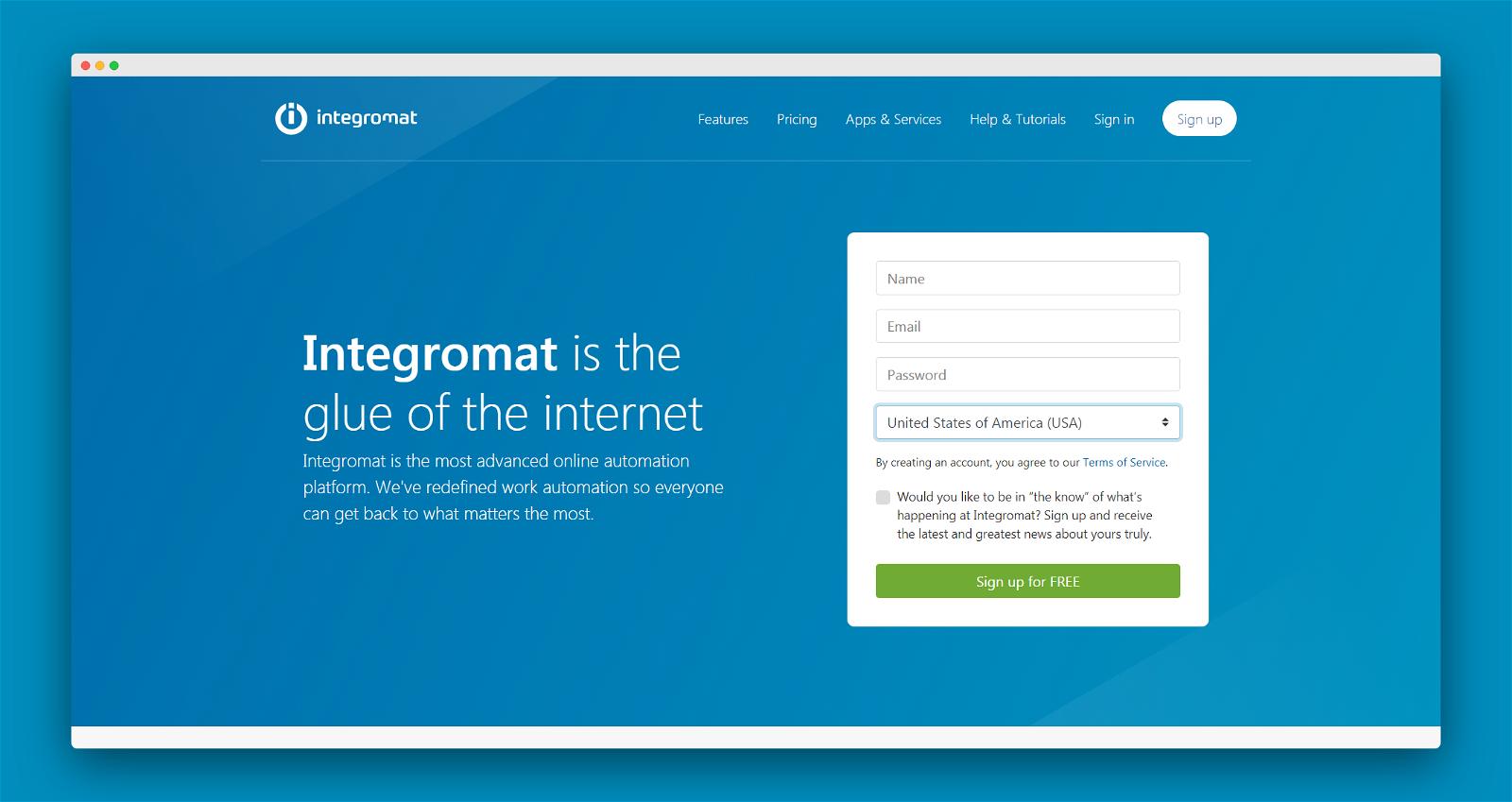 Integromat Screenshot 1