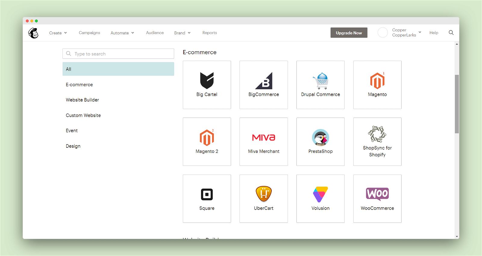 MailChimp Screenshot 3