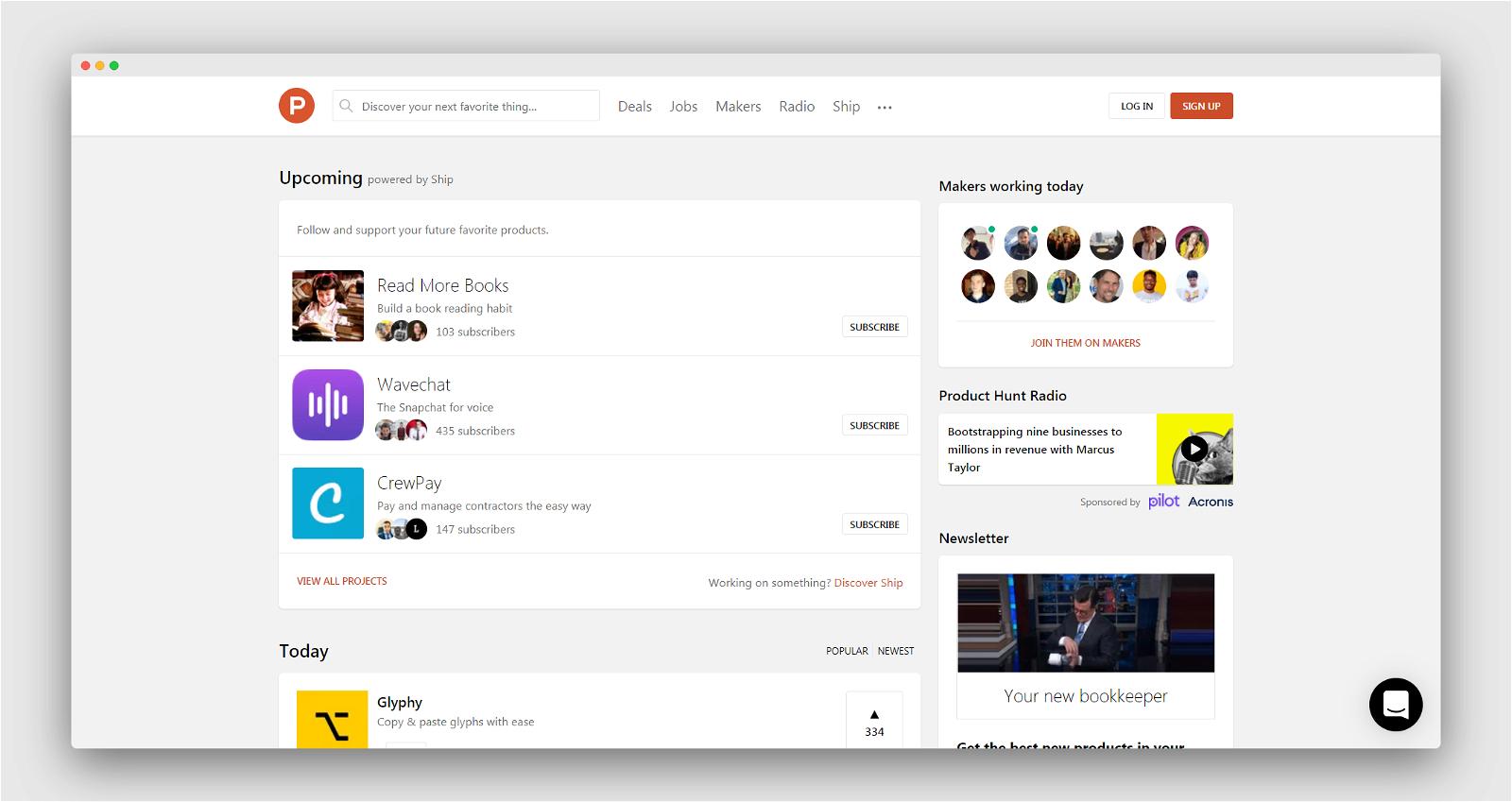 Product Hunt Screenshot 1