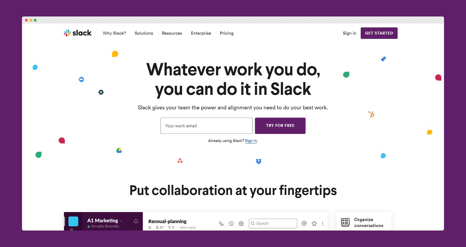Slack Screenshot 1