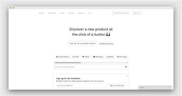 Startup Button Screenshot