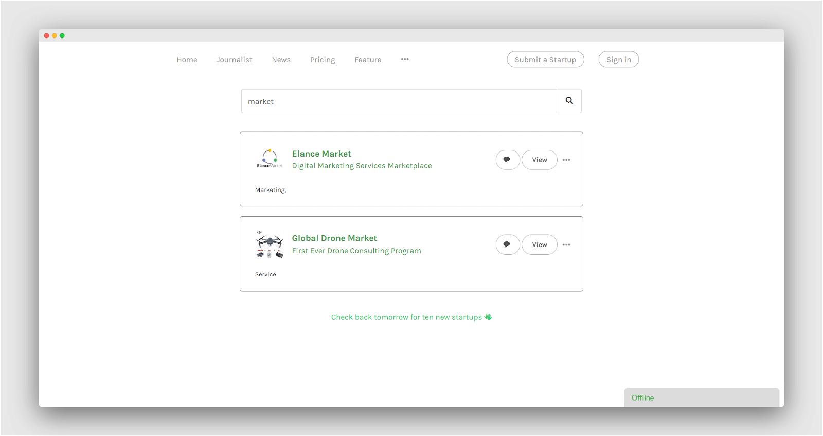 Startup Button Screenshot 2