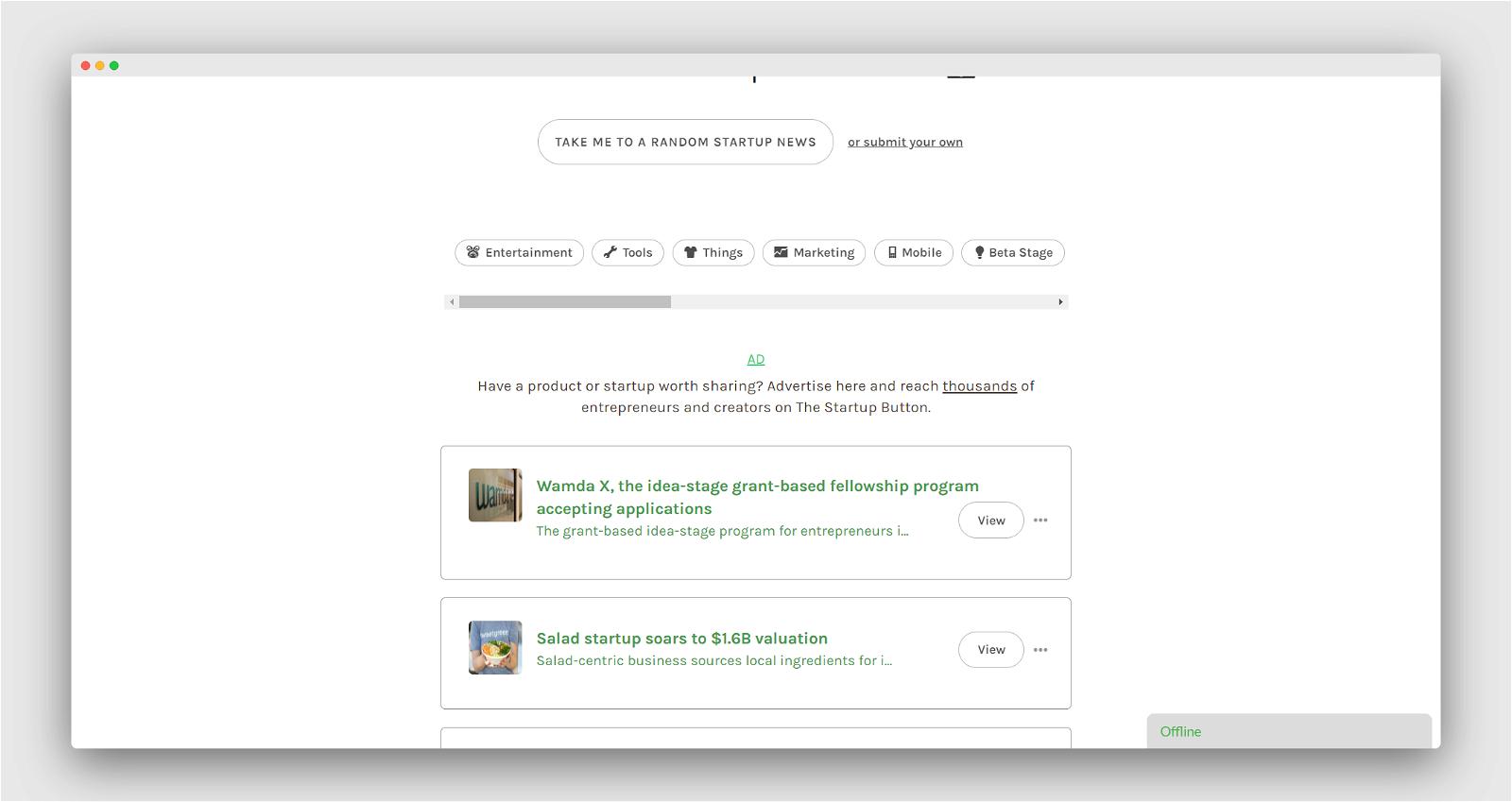 Startup Button Screenshot 3