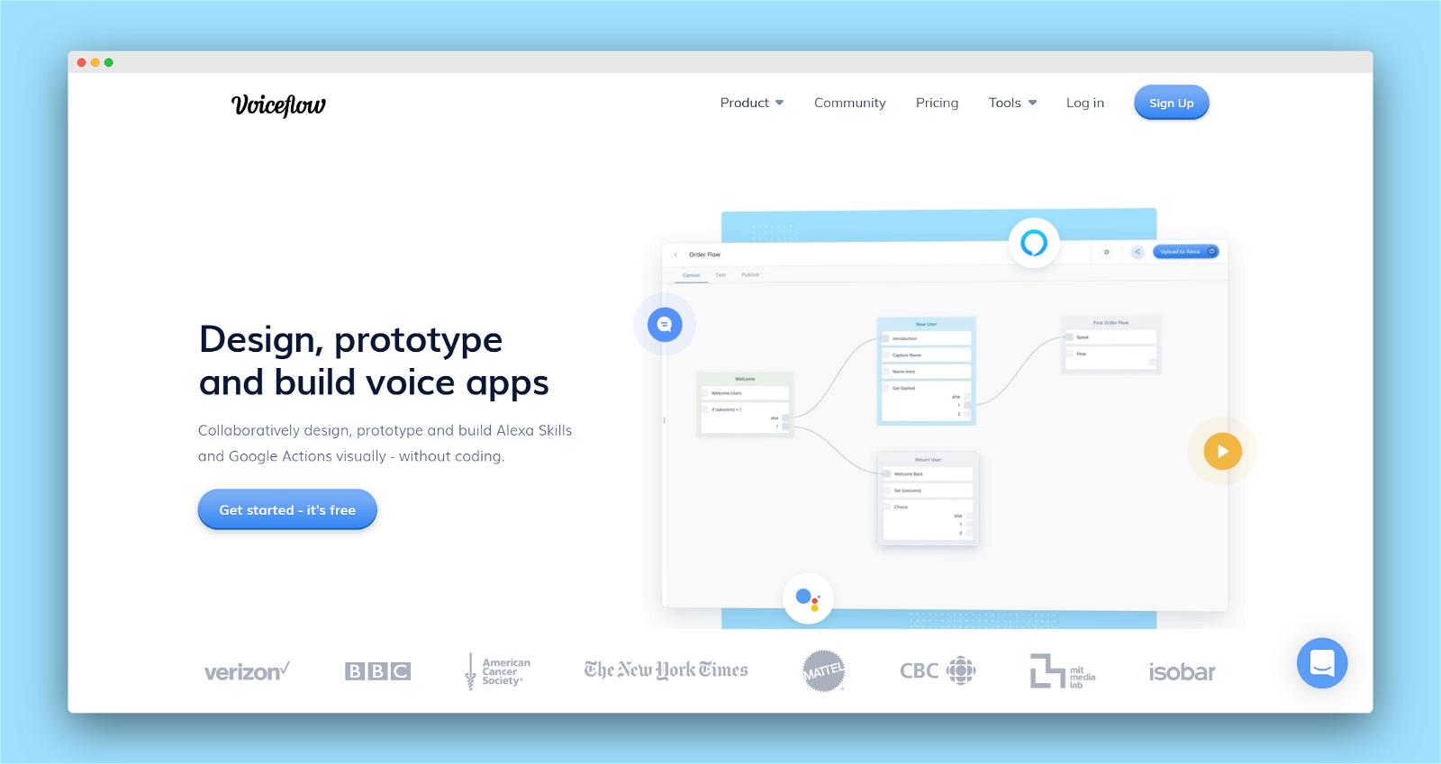 Voiceflow Screenshot 1