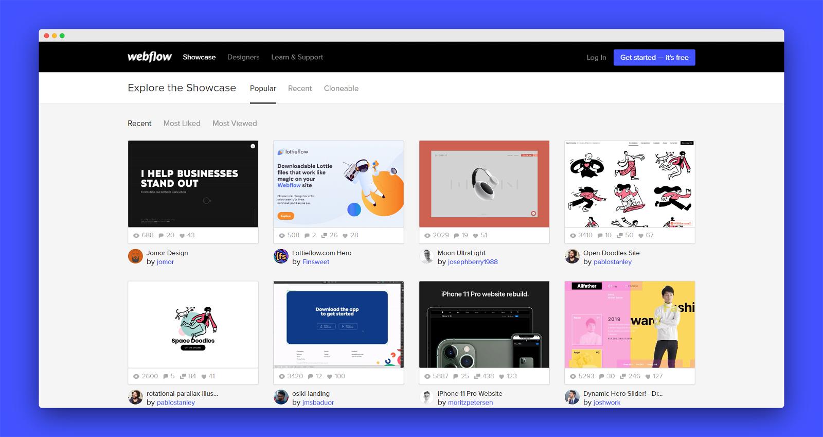 Webflow Screenshot 3
