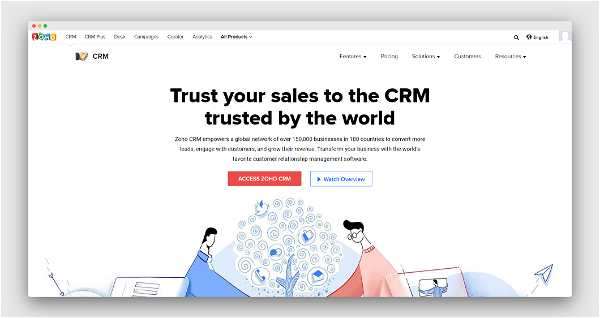 Zoho CRM Screenshot