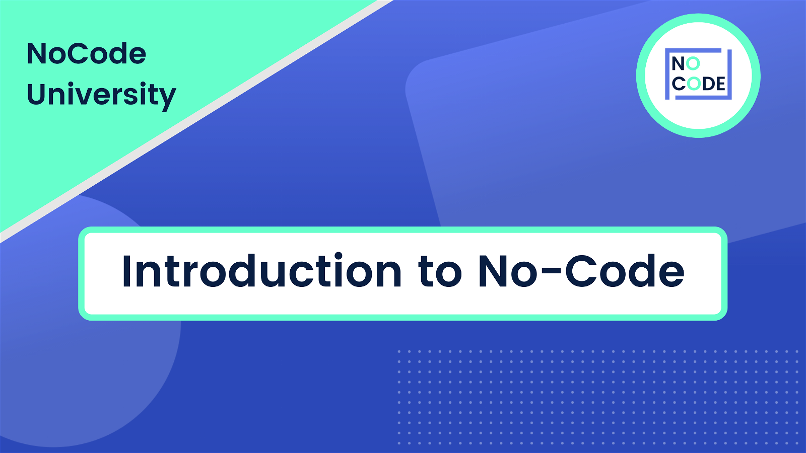 Introduction to No-Code Banner