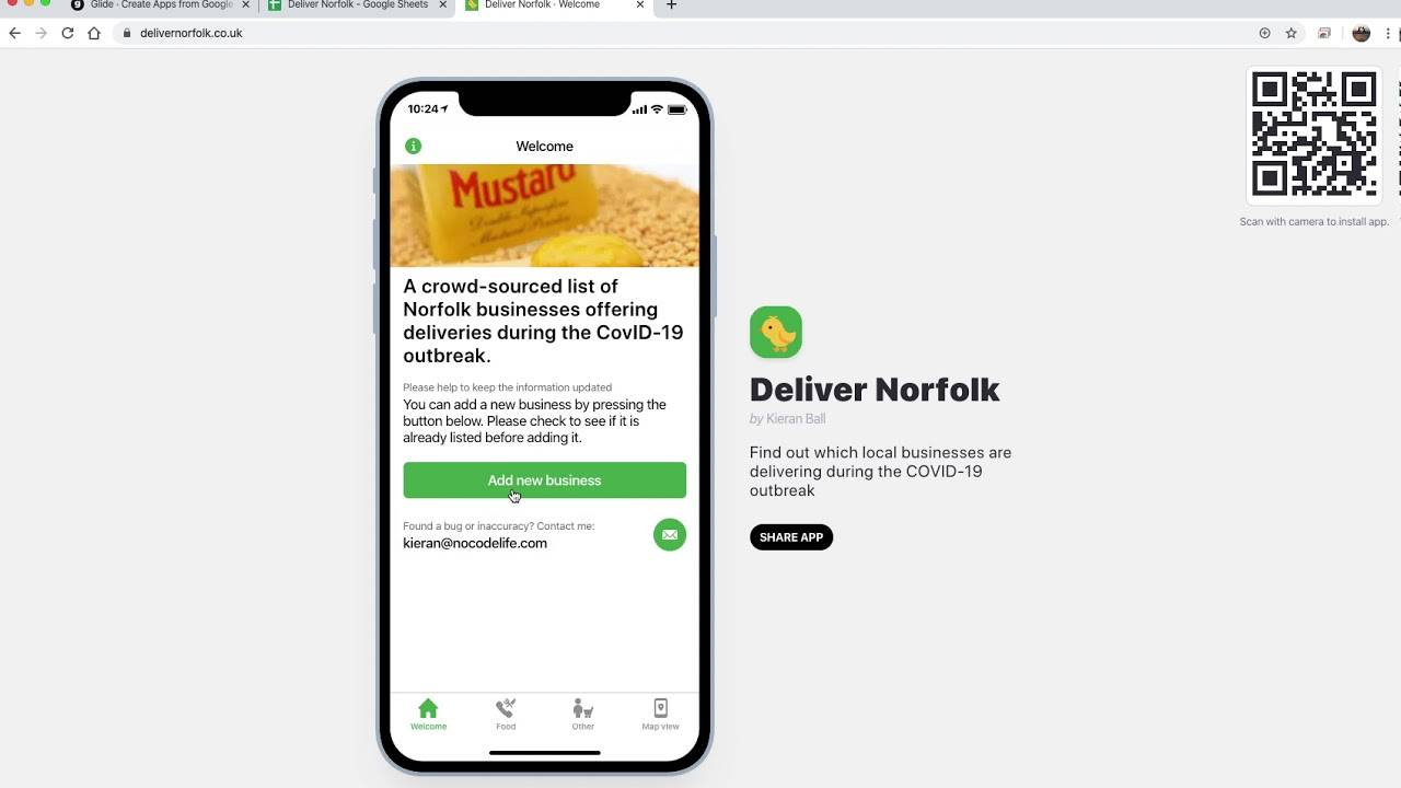 Using Glide to create a directory app of local businesses Banner
